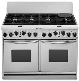 KitchenAid  KDRP487MSS 48 Pro Style Dual Fuel Range Kitchen & Dining