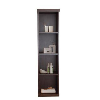 Virtu USA ESC 504 ES Hewitt Wall Mounted Vanity Side Cabinet, 11.8 Inch Wide, 8.9 Inch Deep, 47.2 Inch High, Espresso Finish   Bathroom Vanities
