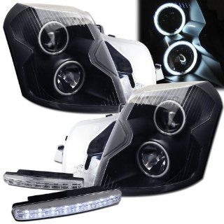 2004 Cadillac Cts Ccfl Halo Projector Headlights + 8 Led Fog Bumper Light Automotive