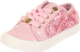 KORS Michael Kors Kids Frannie, Blush, 1 M US Little Kid Fashion Sneakers Shoes