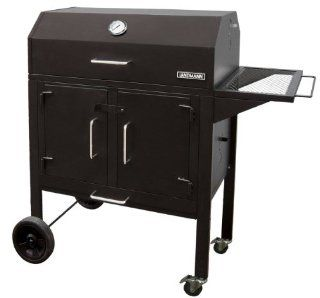 Landmann 590131 Black Dog 28 BBQ Charcoal Grill, 506 Square Inch, Black  Freestanding Grills  Patio, Lawn & Garden