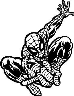 "Spiderman Wall Decal Removable Spiderman Wall Sticker, 22"" x 29"", Black   Wall Decor Stickers"