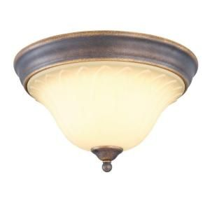 Hampton Bay 2 Light Tuscan Bronze Flush Mount GAX8012A 2