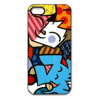 Romeo Romero Britto Cat and Dog Protective PC Hard Plastic Apple iPhone 5 5s Case Cover,Top iPhone 5 5s Case from Good luck to Cell Phones & Accessories