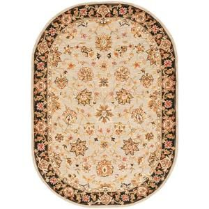 Safavieh Chelsea Light Blue/Black 4.5 ft. x 6.5 ft. Oval Area Rug HK505A 5OV