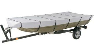 "Aluminum Jon Boat Cover for SF Outboard 18'6"" 19'5"" w/ 84"" Beam   Sharkskin Supreme  Boating Equipment  Sports & Outdoors"