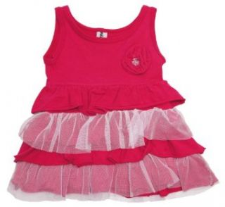 Mignone Toddler Girls Corsage Party Dress 2Y pink Clothing