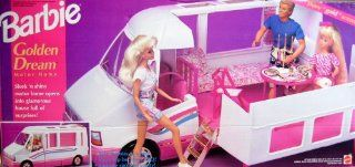 "Barbie GOLDEN DREAM MOTOR HOME   Motorhome Van w ""Gold"" Accents Becomes Home & Trail Rider (1992) Toys & Games"