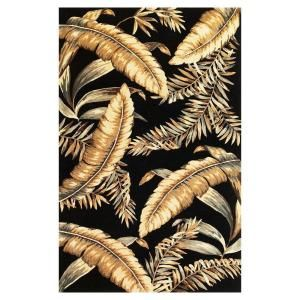 Kas Rugs Antique Ferns Black 8 ft. 6 in. x 11 ft. 6 in. Area Rug SPA313286X116