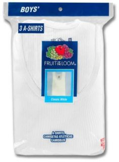 Fruit of the Loom Boy's 3 Pack A shirt   #501B Clothing