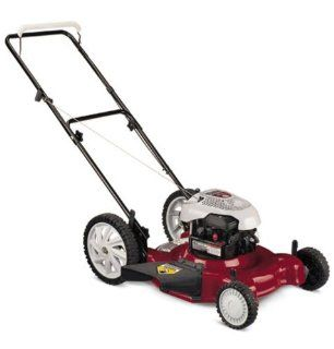 White Outdoor 11A 504K290 22 Inch 158cc Briggs & Stratton Gas Powered Side Discharge/Mulch Lawn Mower With High Rear Wheels (Discontinued by Manufacturer)  Walk Behind Lawn Mowers  Patio, Lawn & Garden