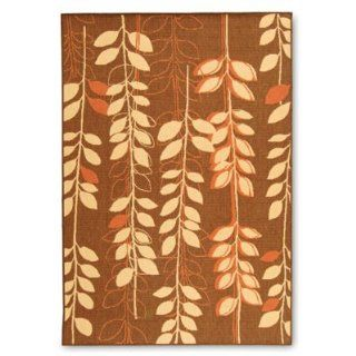 "MacKenzie Outdoor Area Rug   Brown Blue/Brown, 2'4"" x 6'7""   Grandin Road   Doormats"