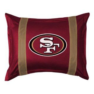 NFL San Francisco 49ers Sideline Sham  Pillow Shams  Sports & Outdoors