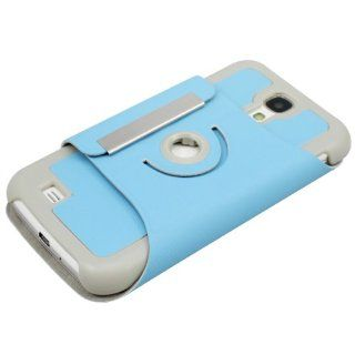 New Fashion 360� Protection Series New Arrival Ultra Slim 360 Degree Rotating PU Leather Stand Case for SamSung Galaxy SIV S4 I9500 (Sky Blue) Cell Phones & Accessories