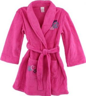 "Xhiliaration ""Love, Dream, Peace"" Pink Girls Fleece Bathrobe S 6/6X XL 14/16 (X Large 14 16) Clothing"