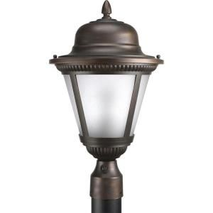 Progress Lighting Westport Collection 1 light Antique Bronze Fluorescent Post Lantern P5434 20EB