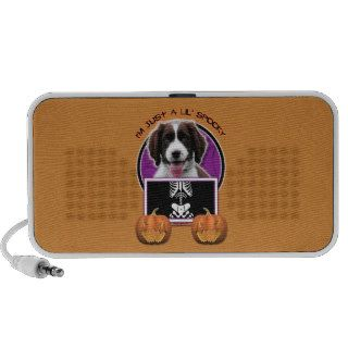 Halloween   Just a Lil Spooky   Springer Spaniel Notebook Speakers