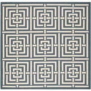 Safavieh Courtyard Navy/Beige 6.6 ft. x 6.6 ft. Square Area Rug CY6937 268 7SQ