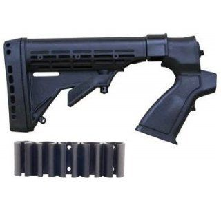 Ultimate Arms Gear Mossberg 500 / 535 / 590 / 835 12 GA Gauge Stealth Black Shotgun Kit Buttstock Stock + Rear Pistol Grip + Shell Holders + Recoil Butt Pad + Sling Swivel Stud  Sports & Outdoors