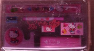 Hello Kitty Clear Pink Hard Plastic Pencil Box Toys & Games