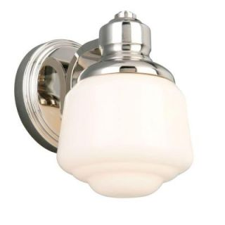 Hampton Bay Whitford 1 Light Polished Nickel Wall Sconce HJD1391A