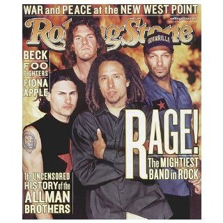 Rolling Stone Magazine # 826 November 25 1999 Rage Against The Machine (Single Back Issue) Rolling Stone Books