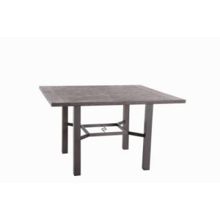 Hampton Bay Walnut Creek 60 in. Square Patio High Dining Table FTS70443H