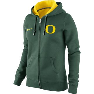 NIKE Womens Oregon Ducks Classic Fleece Full Zip Hoody   Size Small, Green
