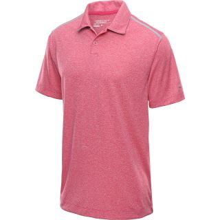 NIKE Mens Lightweight Heather Golf Polo   Size 2xl, Pink/silver