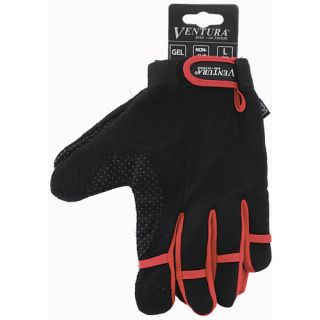 Ventura Full Finger Gloves   Size Large, Red (719951 R)