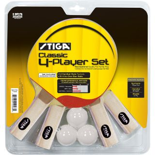 Stiga Classic Four Player Table Tennis Set (T1334)