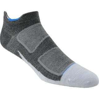 FEETURES Elite Merino+ Ultra Light No Show Socks   Size Large, Grey/blue
