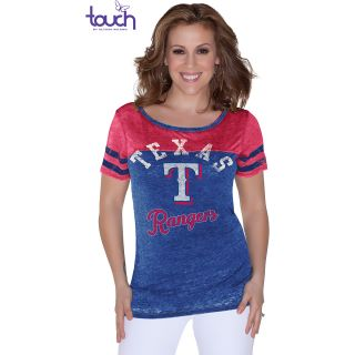 Touch By Alyssa Milano Womens Texas Rangers Morgan Short Sleeve T Shirt   Size