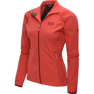 MOUNTAIN HARDWEAR Womens Chocklite Full Zip Jacket   Size Medium, Red Hibiscus