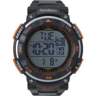 ARMITRON Mens Chronograph Watch, Black/orange