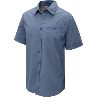 ALPINE DESIGN Mens Tech Short Sleeve Shirt   Size Large, Grisaille