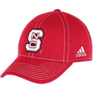 adidas Mens North Carolina State Wolfpack Structured Fitted Flex Cap   Size