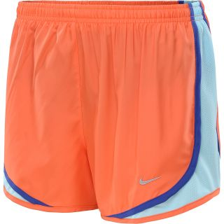 NIKE Womens Tempo Running Shorts   Size Large, Turf Orange/glacier Ice