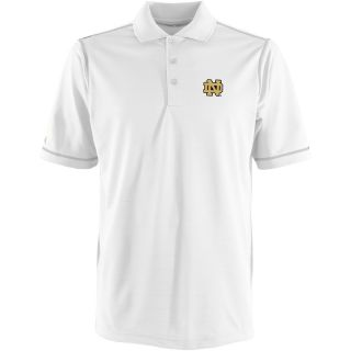 Antigua Notre Dame Fighting Irish Mens Icon Polo   Size Large, White/silver