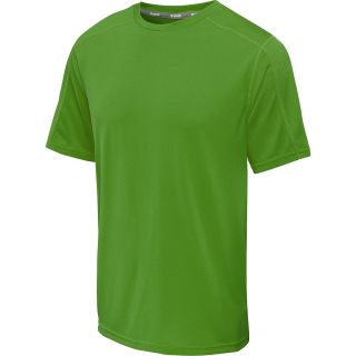 CHAMPION Mens Vapor Heathered Short Sleeve T Shirt   Size Large, Electric