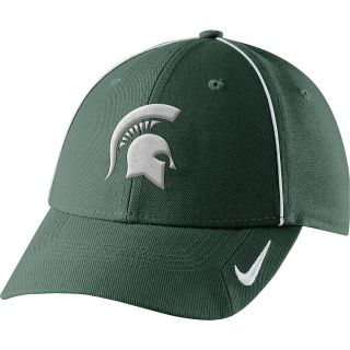 NIKE Mens Michigan State Spartans Coaches Legacy 91 Adjustable Cap, Green