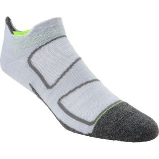 FEETURES Elite Merino+ Ultra Light No Show Socks   Size Small, Silver/yellow