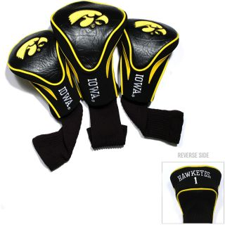 Team Golf University of Iowa Hawkeyes 3 Pack Contour Head Covers (637556215949)