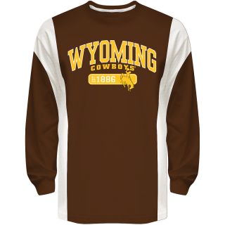 T SHIRT INTERNATIONAL Mens Wyoming Cowboys Rocket Long Sleeve T Shirt   Size