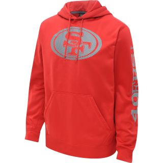 NIKE Mens San Francisco 49ers Carbon Logo Hoody   Size Large, Gym Red