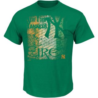 MAJESTIC ATHLETIC Mens New York Yankees Green Field Short Sleeve T Shirt