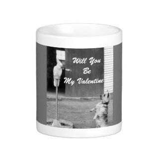Funny Retro Valentines Day Wishes Coffee Mugs
