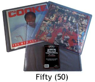 "50 / Fifty 12"" LP / Album Record Toploads / Toploaders   Hard Rigid Plastic / PVC Sleeves  Other Products"