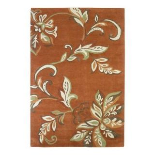 Kas Rugs Textured Bouquet Spice 8 ft. x 10 ft. Area Rug FLO45508X10