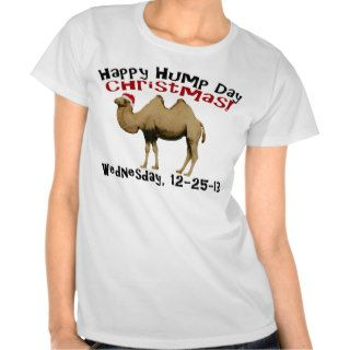 Happy Hump Day Christmas Funny Wednesday Camel Tee Shirt